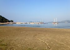 Gulf of Adriaca near Demre. With a view of the yachts Royalty Free Stock Photography