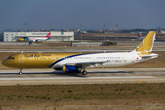 Gulf Air Airbus Stock Photography