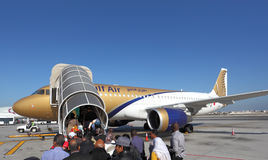 Gulf Air aircraft boarding. Manama, Bahrain Stock Photography