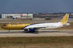 Gulf Air flygbuss Arkivbild