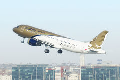 Gulf Air take off Stock Image