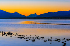 Gulf Almirante Montt,Puerto Natales, Chile Royalty Free Stock Photo