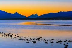 Gulf Almirante Montt,Puerto Natales, Chile royalty free stock photo