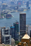 Gulf and city view of Hongkong Victoria harbor Stock Photo