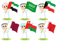 Gulf Cooperation Council Flags Royalty Free Stock Image