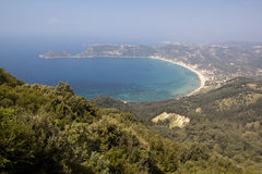 The gulf of Corfu Stock Image