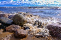 Gulf of Finland at sunset Stock Photography