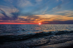 Gulf of Finland at sunset Royalty Free Stock Image