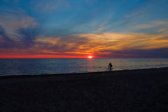 Gulf of Finland at sunset Royalty Free Stock Photos