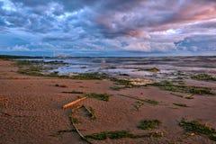 Gulf of Finland at sunset Stock Photo