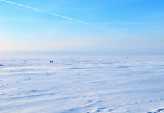 Gulf of Finland in winter Stock Photo