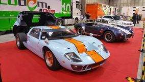 Gulf ford gt 40 in exibition open back Royalty Free Stock Photos