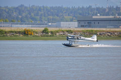 Gulf Island Seaplane and Fraser River Stock Photography