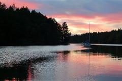 Gulf Islands Anchorage Sunset Stock Image
