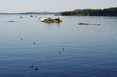The Gulf Islands in Canada Stock Photos