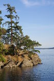 Rugged coast of  the Gulf Islands in Canada Stock Photo
