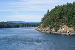 Narrow ferry passage between the Gulf Islands Stock Image