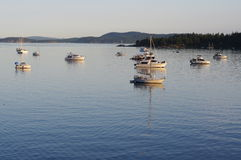 Sunset at the Gulf Islands in Canada Royalty Free Stock Photos