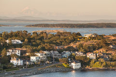 Gulf Islands and Mt. Baker, Victoria, BC, Canada Stock Photography