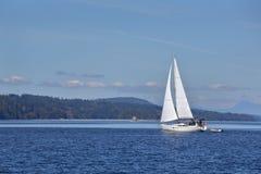 Gulf Islands Sailing, British Columbia Stock Photo