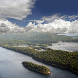 Gulf Islands - Saturna Island and Samuel Island Stock Image