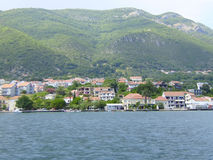 Gulf Kotor, coast of Montenegro. The most beautiful views of Montenegro a look from the sea Royalty Free Stock Photo