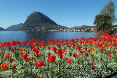 The gulf of Lugano Royalty Free Stock Photo