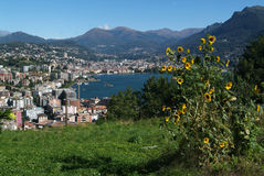 The gulf of Lugano Stock Image
