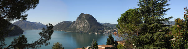 The gulf of Lugano Royalty Free Stock Photos