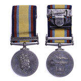 Gulf medal 1990-1991. British gulf medal issued for service during operation granby the liberation of Kuwait Stock Photography