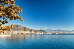 Gulf in the Mediterranean Sea. Mountain ranges in Kemer Royalty Free Stock Images
