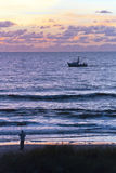 Gulf Of Mexico Fishing At Sunset Stock Images