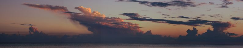 Gulf of Mexico near sunset picturesque stock image