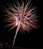 Gulf of Mexico New Years Panama City Beach Fireworks. Gulf of Mexico New Years Panama City Beach Burst Fireworks pyrotechnics royalty free stock images