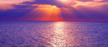 Gulf of Mexico Sunset Royalty Free Stock Images