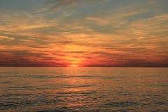 Gulf of Mexico sunset beach Christmas sunset stock image