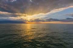 Gulf of Mexico at sunset Stock Image