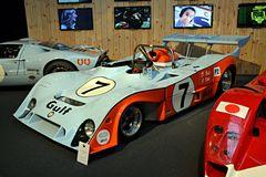 Gulf mirage race car. In Brussels, Belgium is Autoworld museum: more than 250 vehicles of various origin illustrate the spectacular development of vehicles over Stock Images