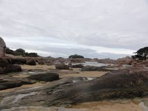 Landscape of the Gulf of Morbihan. The Gulf of Morbihan is an inner sea of an east-west length of 20 kilometers approximately strewed with numerous islands and Royalty Free Stock Images