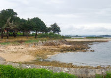 Gulf of Morbihan. Scenery around the Gulf of Morbihan near Pointe de Kerpenhir, a natural harbour on the coast of the Departement of Morbihan in the south of Stock Image