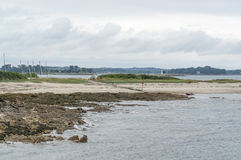 Gulf of Morbihan. Scenery around the Gulf of Morbihan near Pointe de Kerpenhir, a natural harbour on the coast of the Departement of Morbihan in the south of Stock Photography
