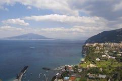 Gulf of Naples. With Vesuvius, italy Stock Photos