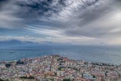 Naples Bay and Capri Island Stock Photos