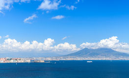 Gulf of Naples. Landscape with Mount Vesuvius Stock Photos