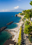 Gulf of Naples and Mountains Royalty Free Stock Image