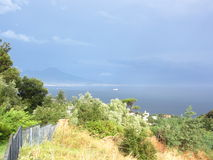 Gulf of Naples after storm Stock Image