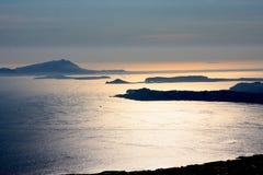 Gulf of Naples from Vesuvius Volcano Italy Stock Photos