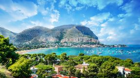 Free Gulf Of Mondello And Monte Pellegrino, Palermo, Sicily Island, Italy Royalty Free Stock Photography - 131226837
