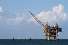Gulf Oil Rig Stock Image