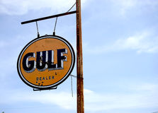 Gulf Oil sign Royalty Free Stock Photos